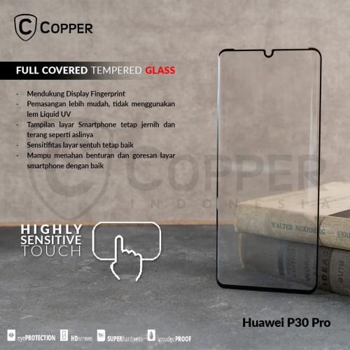 Foto Produk HUAWEI P30 PRO - COPPER FULL COVERED TEMPERED GLASS dari Copper Indonesia