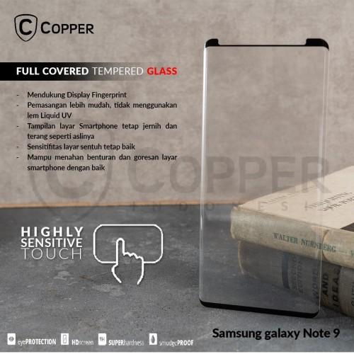Foto Produk SAMSUNG GALAXY NOTE 9 - COPPER FULL COVERED TEMPERED GLASS dari Copper Indonesia