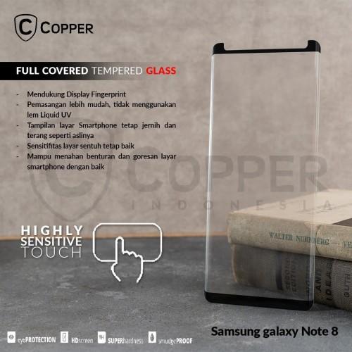 Foto Produk SAMSUNG GALAXY NOTE 8 - COPPER FULL COVERED TEMPERED GLASS dari Copper Indonesia
