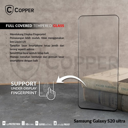 Foto Produk SAMSUNG GALAXY S20 ULTRA - COPPER FULL COVERED TEMPERED GLASS dari Copper Indonesia