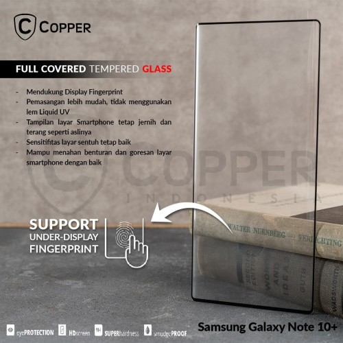 Foto Produk SAMSUNG GALAXY NOTE 10 PLUS [2019]- COPPER FULL COVERED TEMPERED GLASS dari Copper Indonesia