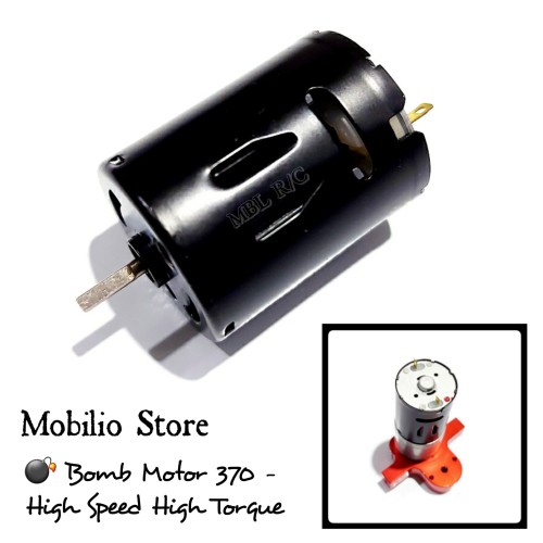 Foto Produk Upgrade Part - Carbon Brushed Motor DC 370 High Speed Strong Magnetic dari Mobilio Store