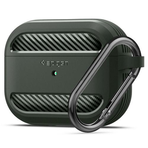 Foto Produk Case Airpods Pro Spigen Rugged Armor Carbon Fiber Softcase Slim Casing - Military Green dari Spigen Official