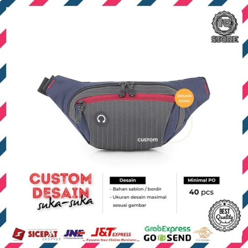 Foto Produk Custom Tas Waistbag Tas Slempang Dada Desain Logo Brand Sendiri Custom dari TQSTORE9