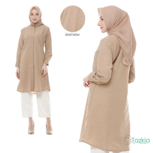 Foto Produk Atasan Muslim Wanita | Omira Tunik | Tazkia Hijab Store | Original - Biru, M dari Tazkia Hijab Store