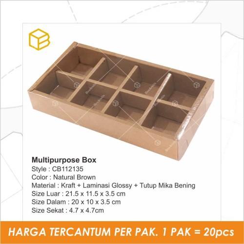 Foto Produk Cake Box / Dus Kue Tart Pie / Mochi Packaging Sekat Mika - CB112135 - Cokelat dari Box Are Us