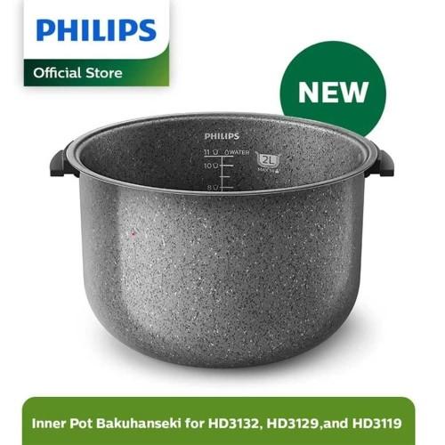 Foto Produk Philips Rice Cooker - Inner Pot 2L Bakuhanseki - HD3110/33 dari Philips Home Appliances