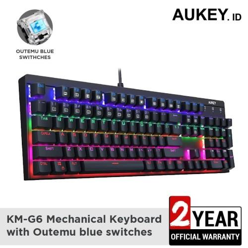 Foto Produk Aukey Keyboard KM-G6 with Outemu blue switches - 500552 dari AUKEY