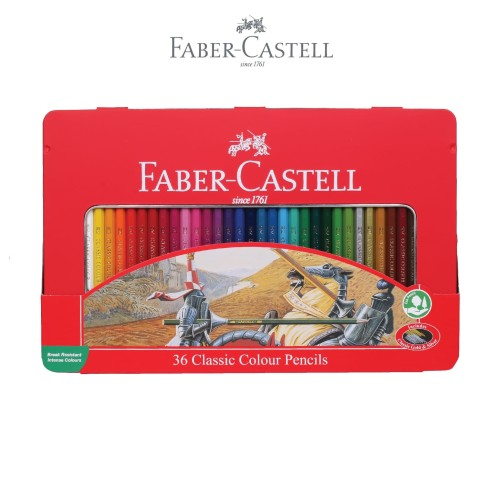 Foto Produk Faber-Castell Classic Colour Pencil 36L Tin Case dari Faber-Castell