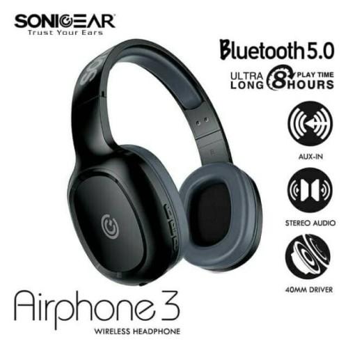 Foto Produk Headset Sonicgear AirPhone 3 Bluetooth Wireless dari Flazz Computer Pekanbaru