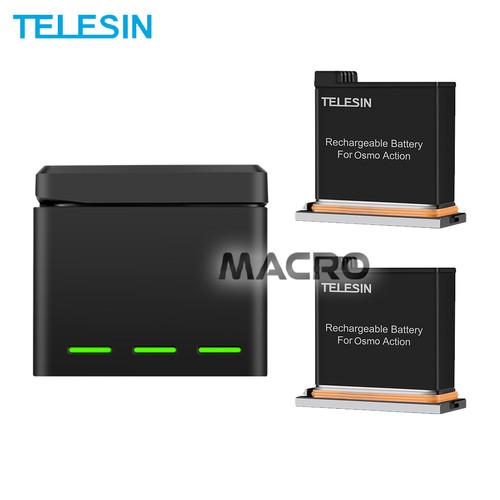 Foto Produk Baterai Osmo Dji 2 Pack With Charger 3 Slot Storage Box TELESIN dari MACRO