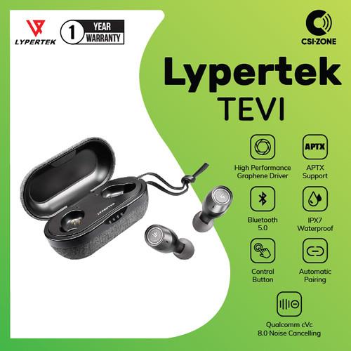 Foto Produk LYPERTEK TEVI True Wireless TWS Earbuds APTX Bluetooth 5.0 Stereo HiFi - Black dari csi-zone