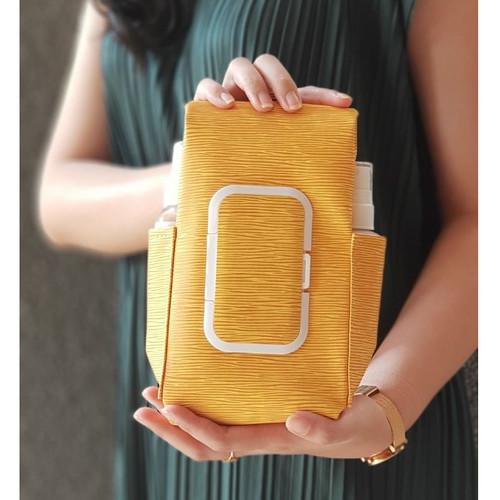 Foto Produk TECHNOZIO Tempat Tissue Pouch 5 In 1 Urat Kuning / Sarung Tisu dari Technozio