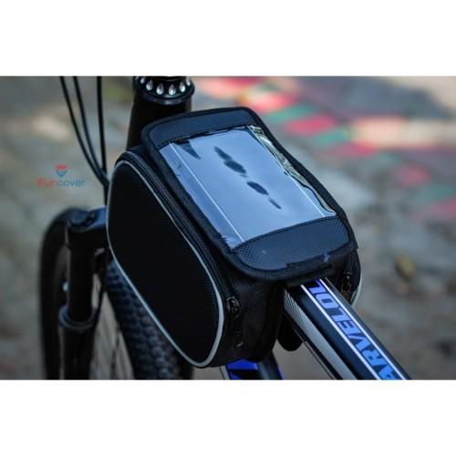 Foto Produk Tas Sepeda Touchscreen Waterproof Tas Stang Sepeda lipat mtb universal dari lbagstore