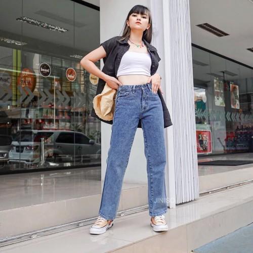 Foto Produk JINISO - Highwaist Loose Jeans 811 - 821 dari JINISO.ID