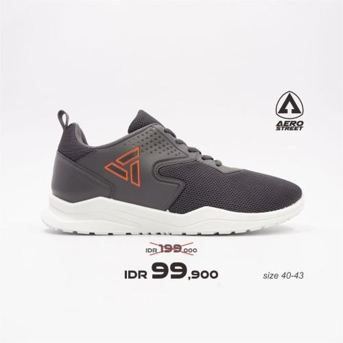 Foto Produk Aerostreet 40-43 Delta Abu Tua - Sepatu Sneakers Sport Pria Wanita - 40 dari Aerostreet