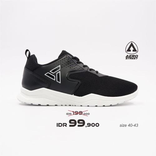 Foto Produk Aerostreet 40-43 Delta Hitam - Sepatu Sneakers Casual Sport Pria - 40 dari Aerostreet