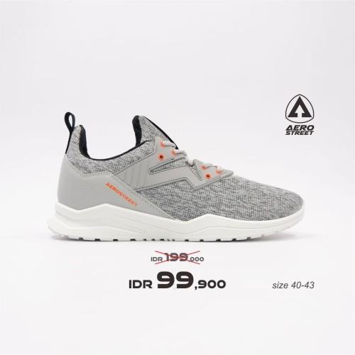 Foto Produk Aerostreet 40-43 Alpha Abu Muda - Sepatu Sneakers Casual Sport Sekolah - 40 dari Aerostreet