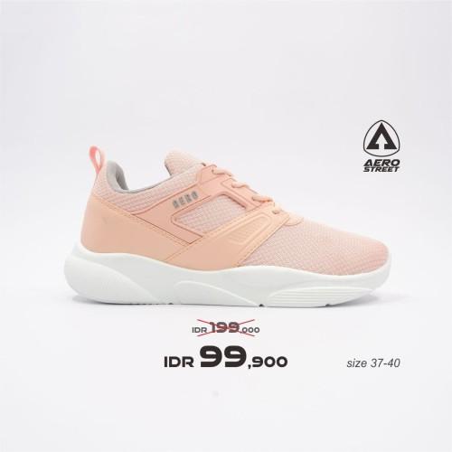 Foto Produk Aerostreet 37-40 Shanny Peach - Sepatu Sneakers Casual Sport - 37 dari Aerostreet