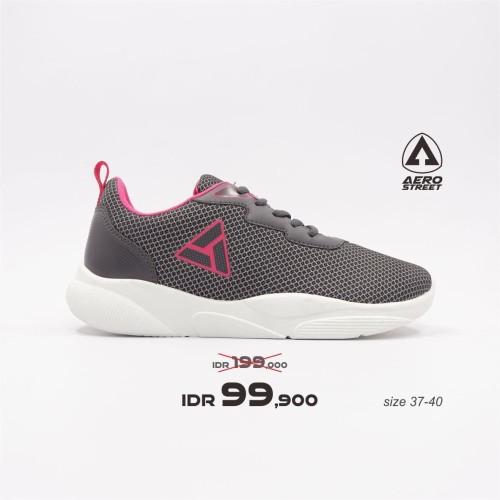 Foto Produk Aerostreet 37-40 Sharron Abu Fushia - Sepatu Sneakers Sport Wanita - 37 dari Aerostreet