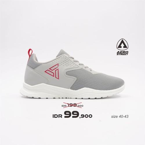 Foto Produk Aerostreet 40-43 Delta Abu Muda - Sepatu Sneakers Casual Sport Sekolah - 40 dari Aerostreet