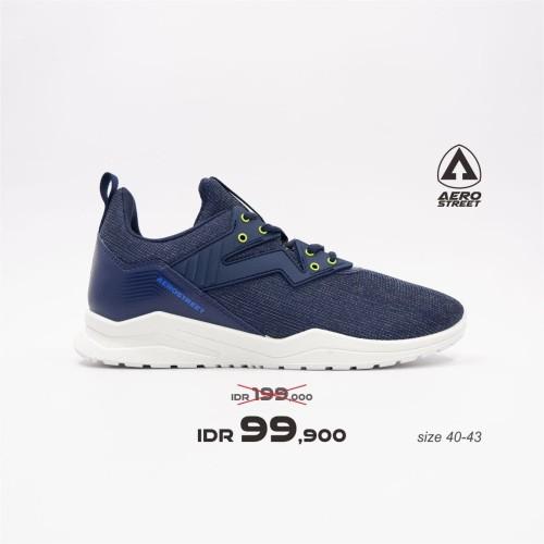 Foto Produk Aerostreet 40-43 Alpha Navy - Sepatu Sneakers Casual Sport Sekolah - 40 dari Aerostreet