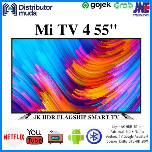"Foto Produk Xiaomi Mi TV 4 55 Inch Smart Android 4K UHD TV 55"" - Garansi Resmi dari Distributor-Muda"