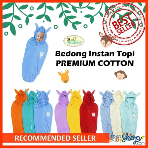 Foto Produk Little Duck Bedong Bayi Instan Isi 3 Topi Selimut Katun Kaos PREMIUM dari Tokobabyshop