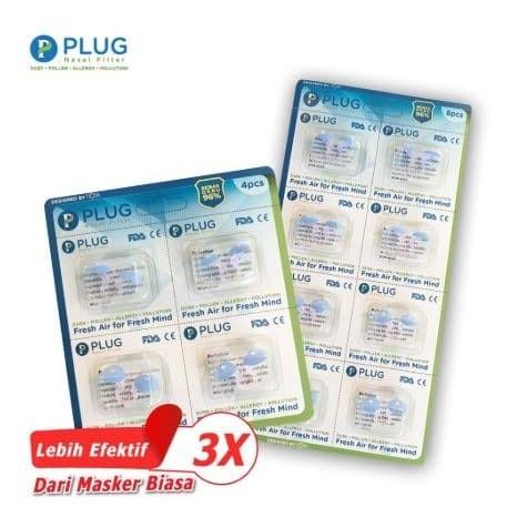 Foto Produk Plug Nasal Filter Refill (1 Pack = Isi 4 pcs & 1 Pack = Isi 8 Pcs) dari Plug Official Store