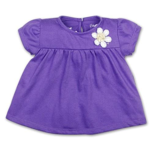 Foto Produk Bearhug Atasan Dress Bayi Perempuan Bunga Dada Ungu ATD 6-18 Bulan - 6 Bulan dari Bearhug-Id