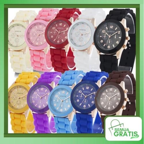 Foto Produk Semua Gratis - Jam Tangan Geneva / Arloji / Jam Fashion / Qu - Pink dari Semua Gratis