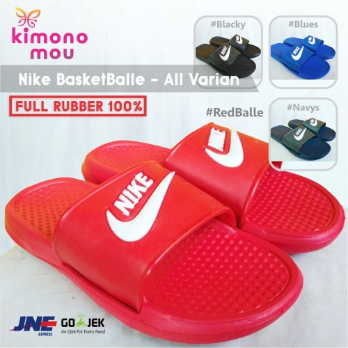 Foto Produk Sandal / Sendal Nike Basketballe Slop SlipOn Pria Cowok - Redballe, 41 dari Kimono Mou