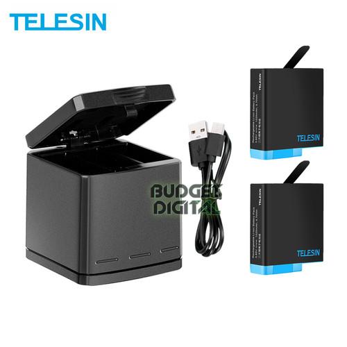 Foto Produk TELESIN Battery GoPro 2 Pack With Triple Charger For GoProHERO 8 7 6 5 dari BudgetDigital