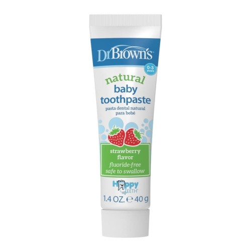 Foto Produk Dr Brown's - Natural Baby Toothpaste 40g STRAWBERRY FLAVOR dari Chubby Baby Shop