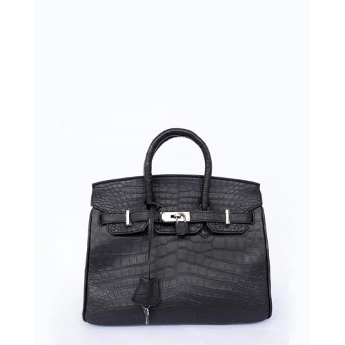 Foto Produk tas kulit buaya asli warna hitam doff dari tas-kulit