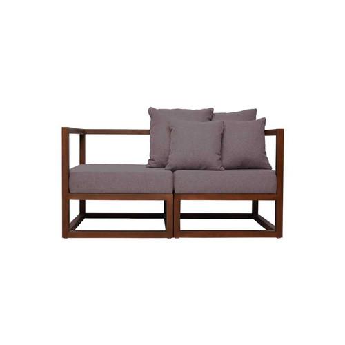 Foto Produk CUBIX SERIES - Kursi Tamu Sofa Modern Minimalis (AC,AC) - XIONCO - Abu-abu Muda, Rangka Gelap dari xionco