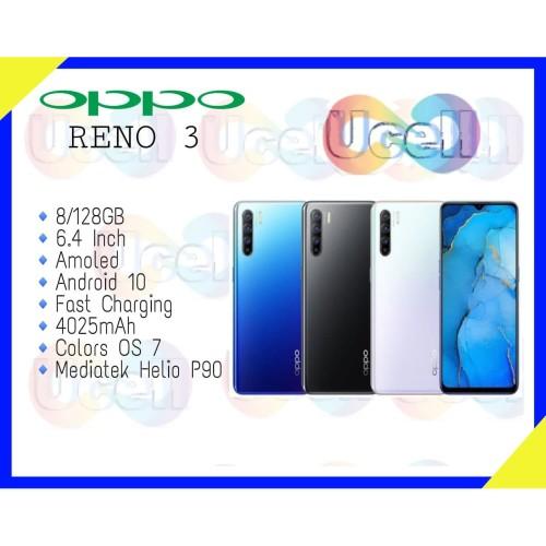 Foto Produk Oppo Reno 3 - 8GB/128GB - Garansi Resmi - Hitam dari ucell cempaka