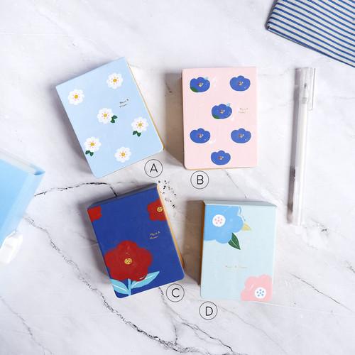 Foto Produk Hyuna Flower Mini Plain Memopad / Buku Tulis / Memo / Kertas Catatan - Varian B dari Pinkabulous
