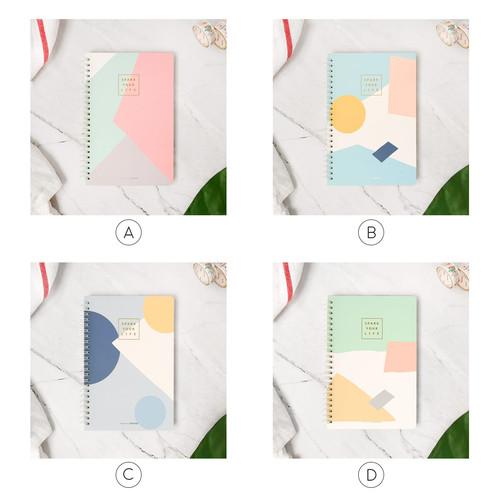 Foto Produk Scandinavia Spiral Ruled Notebook A5 / Buku Tulis A5 / Buku Catatan A5 - Varian A dari Pinkabulous
