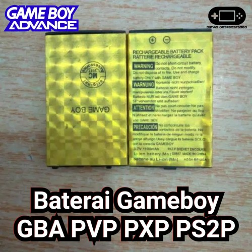 Foto Produk Baterai Gameboy Advence GBA SP PVP P2P Battery PXP dari Dimas Retro Game