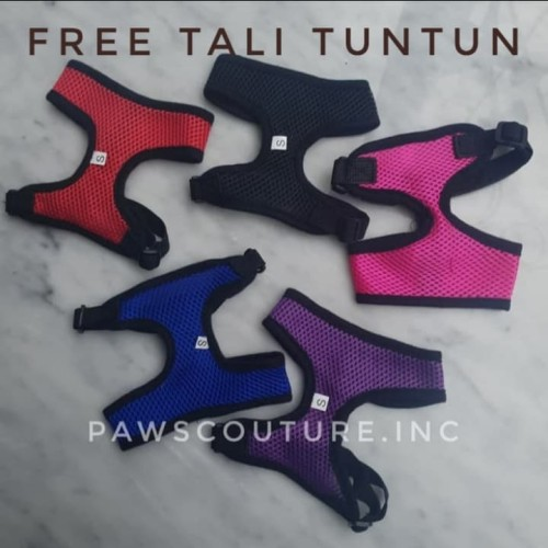 Foto Produk (D8) Harness Tali Tuntun Anjing Kucing Pet Dog Cat Leash S M L - Biru, XS dari PawsCouture