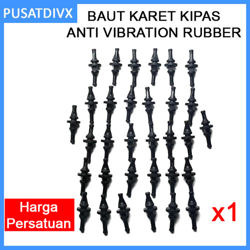 Foto Produk Baut Karet Kipas Fan Anti Vibration Rubber Screw Peredam Noise Short dari pusatdivx