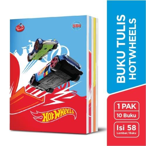 Foto Produk SiDU Buku Tulis Hotwheels 58 Lembar - 10 Buku dari SiDU Official Store