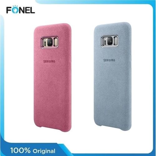 Foto Produk Samsung Alcantara Cover Casing for Galaxy S8 Plus - Pink dari FONEL