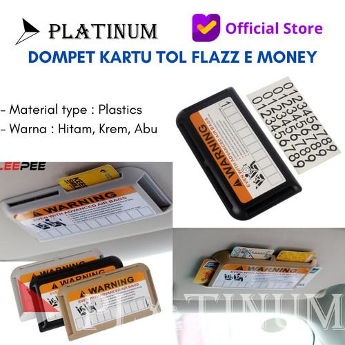 Foto Produk TEMPAT DOMPET KARTU TOL FLAZZ E MONEY CARD HOLDER / SUNVISOR MOBIL - H - Hitam dari PLATINUM CAR PARTS