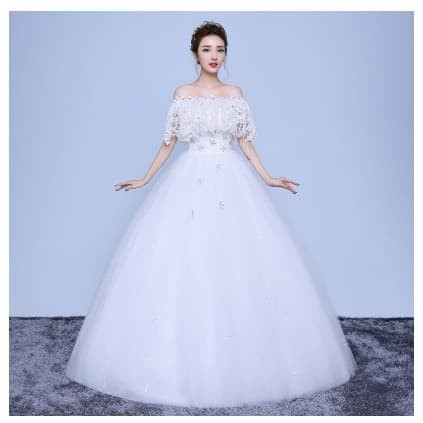 Jual Wedding Dress Off Shoulder Bridall Gowns For Woman White S Kota Tangerang Gaunwedding Com Tokopedia