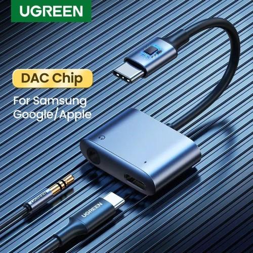 Foto Produk UGREEN 2 in 1 DAC USB type C to 3.5mm Headphone + PD Charging Adapter dari U.SHOP