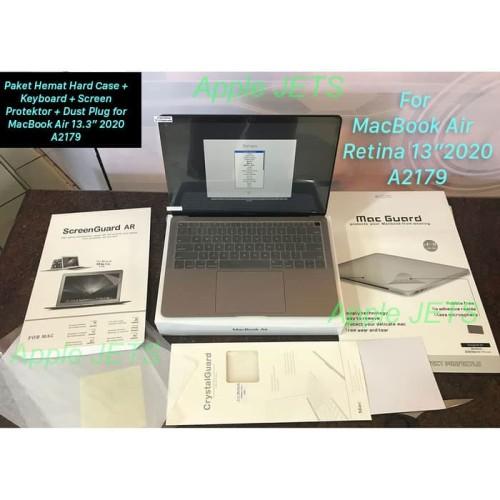 """Foto Produk Paket Hemat Full Protektor Hard Case MacBook Air Retina 13"""" 2020 A2179 - Lengkap dari AppleJets"""