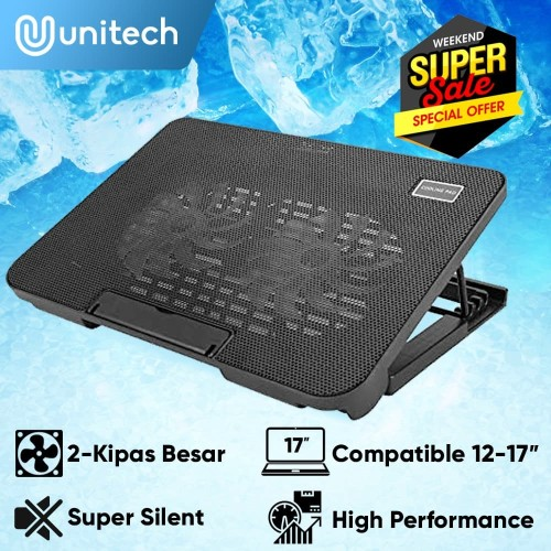 Foto Produk Unitech Cooling Pad Coolingpad Cooler Laptop 2 Fan Blue LED Lamp N99 dari Unitech Official