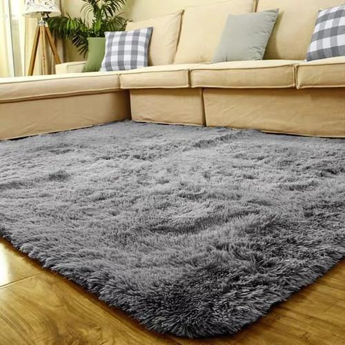Foto Produk Karpet bulu lembut 150*200 Tebel 4cm - Abu-abu dari Luzzy Distibutor Karpet